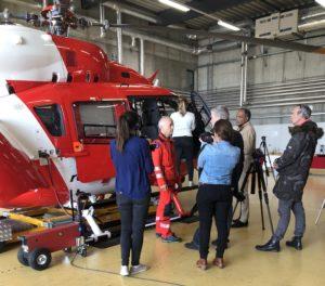 La Rega présente son nouvel hélicoptère lausannois à la presse