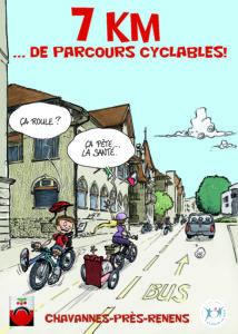 Chavannes: 7 km de pistes cyclables en vue